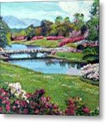 Spring Flower Park Metal Print by David Lloyd Glover