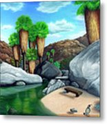 Springtime In The Canyons Metal Print by Snake Jagger