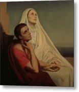 St Augustine And His Mother St Monica Metal Print by Ary Scheffer