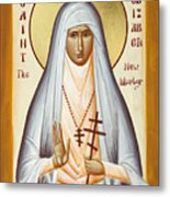 St Elizabeth The New Martyr Metal Print by Julia Bridget Hayes