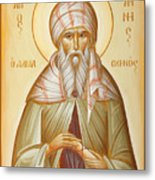 St John Of Damascus Metal Print by Julia Bridget Hayes