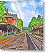 St. Martins Train Station Metal Print by Bill Cannon