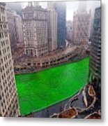 St Patrick's Day Chicago  Metal Print by Jeff Lewis