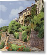 St Paul De Vence Metal Print by Guido Borelli