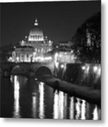 St. Peters At Night Metal Print by Donna Corless