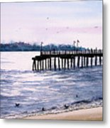 St. Simons Island Fishing Pier Metal Print by Sam Sidders