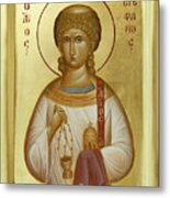 St Stephen The First Martyr And Deacon Metal Print by Julia Bridget Hayes