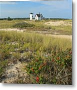 Stage Harbor Lighthouse Cape Cod Metal Print by John Burk
