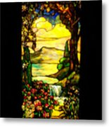 Stained Landscape Metal Print by Donna Blackhall