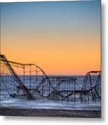 Star Jet Roller Coaster Ride  Metal Print by Michael Ver Sprill