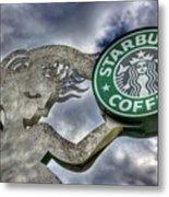 Starbucks Coffee Metal Print by Spencer McDonald