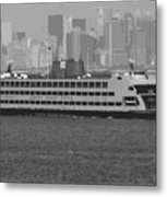 Staten Island Ferry Bw16 Metal Print by Scott Kelley