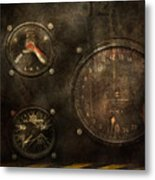 Steampunk - Check Your Pressure Metal Print by Mike Savad