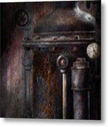 Steampunk - Handling Pressure  Metal Print by Mike Savad