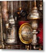 Steampunk - Needs Oil Metal Print by Mike Savad