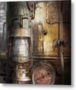 Steampunk - Silent Into The Night Metal Print by Mike Savad