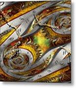 Steampunk - Spiral - Space Time Continuum Metal Print by Mike Savad
