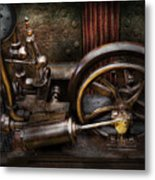 Steampunk - The Contraption Metal Print by Mike Savad