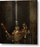 Steampunk - Plumbing - Number 4 - Universal  Metal Print by Mike Savad