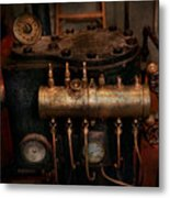 Steampunk - Plumbing - The Valve Matrix Metal Print by Mike Savad