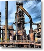 Steel Stacks Bethlehem Pa. Metal Print by DJ Florek