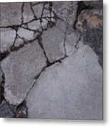 Step On A Crack 3 Metal Print by Anna Villarreal Garbis