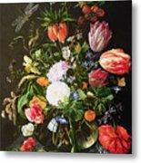 Still Life Of Flowers Metal Print by Jan Davidsz de Heem