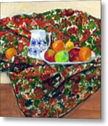 Still Life With Fruit Metal Print by Ethel Vrana