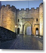 Stirling Castle Scotland In A Misty Night Metal Print by Christine Till
