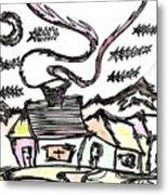 Stitchlip's House Metal Print by Levi Glassrock