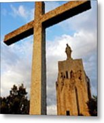 Stone Crucifix Metal Print by Sami Sarkis