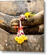 Stone Hand Of Buddha Metal Print by Adrian Evans