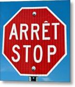 Stop Sign. Metal Print by Fernando Barozza