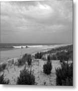 Storm Approaching - Jersey Shore Metal Print by Angie Tirado