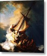 Storm On The Sea Of Galilee Metal Print by Pg Reproductions