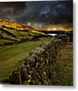 Storm Over Windermere Metal Print by Meirion Matthias