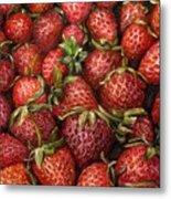 Strawberries -2 Contemporary Oil Painting Metal Print by Natalja Picugina