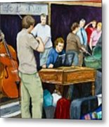 Street Musicians In Dublin Metal Print by Brenda Williams