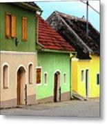 Street Of Wine Cellar Houses  Metal Print by Mariola Bitner