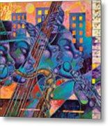 Street Songs Metal Print by Larry Poncho Brown