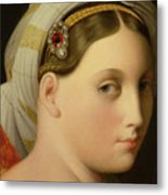 Study For An Odalisque Metal Print by Ingres