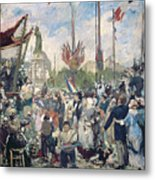 Study For Le 14 Juillet 1880 Metal Print by Alfred Roll