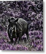 Styled Environment-the Modern Trendy Rhino Metal Print by Douglas Barnard