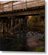 Sugar River Trestle Wisconsin Metal Print by Steve Gadomski