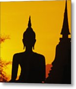 Sukhothai Temple Metal Print by Gloria & Richard Maschmeyer - Printscapes