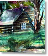 Summer Cabin Metal Print by Mindy Newman