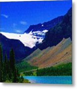 Summer Glacier Over Mountain Lake Metal Print by Greg Hammond