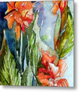 Summer Glads Metal Print by Mindy Newman