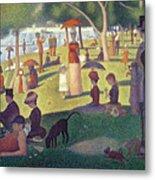 Sunday Afternoon On The Island Of La Grande Jatte Metal Print by Georges Pierre Seurat