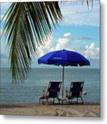 Sunday Morning At The Beach In Key West Metal Print by Susanne Van Hulst